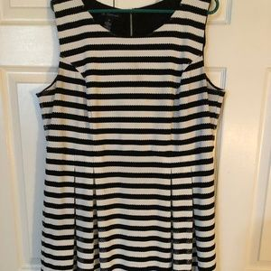 INC Black and White Dress